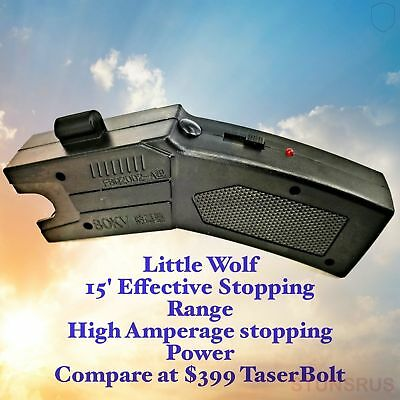 Little Wolf Police Defense Stun Gun Laser Sight Rechargeable Battery  LED light
