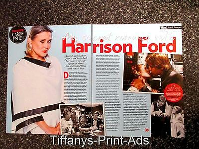 CARRIE FISHER Star Wars Harrison Ford *  Magazine CLIPPINGS FEATURE Photo  *
