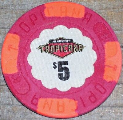 $5 2Nd Edition Gaming Chip From The Tropicana Casino Atlantic City