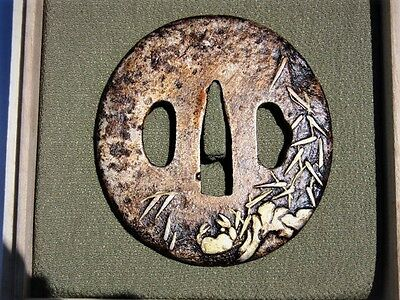Old Tsuba. Crab Design. Edo Meiji Period.