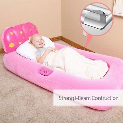Portable Kids Air Bed Camping Cot Airbed Inflatable Air Bed Mattress Toddler NEW