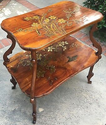 LOUIS MAJORELLE tea table(s) c1895 Lacquer incrusted from Glen Campbell estate