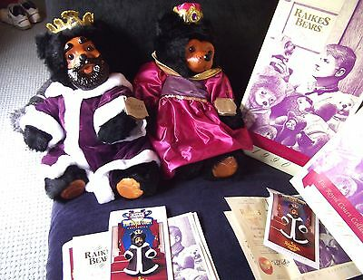 """Raikes Bears - New – MINT condition 22"""" King William and 22"""" Queen Mary in boxes"""