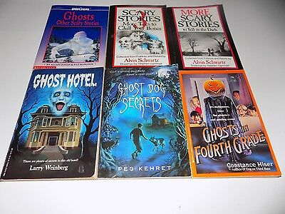 Lot of 6 Ghost Stories Paperback Books
