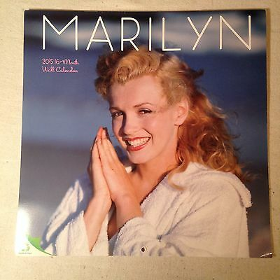 """Marilyn Monroe Wall Calendar Large 12"""" 2015 young Marilyn photographs 16 month"""