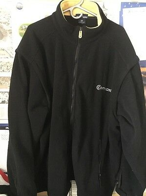 COMCAST Black Zip-Front Long Sleeve Employee Fleece Jacket 2XL