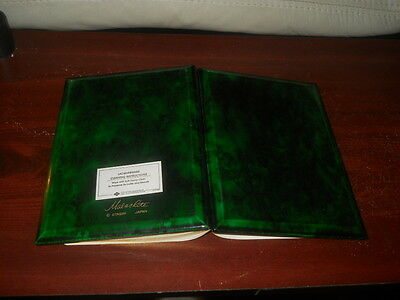 VINTAGE OTAGIRI Japan Phone number and Address Book Green Malachite cover