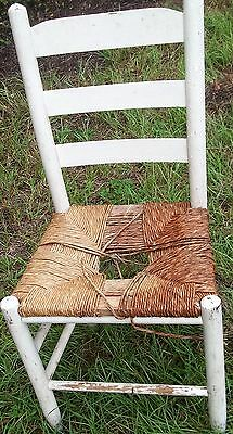 Antique Ladder Back Wooden Chair