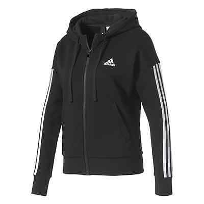 Felpa Full Zip Con Cappuccio Donna Adidas Essentials 3 Stripes