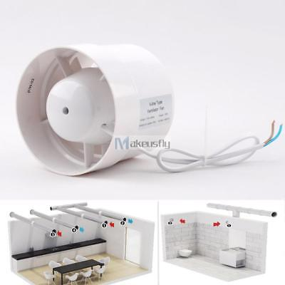 """4"""" Inline Duct Booster Exhaust Blower ABS Insulation Air Cooling Vent Fan 12W NC"""
