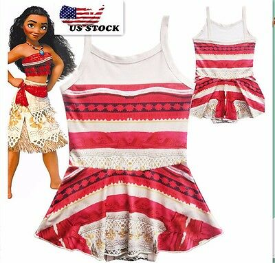 Cute Girls Toddlers Moana Swimsuit Swimwear  Bathing suit Bikini  O16