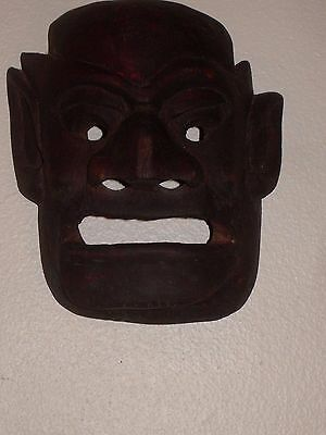 WOODEN MAN MASK from PASIFIC ISLANDS