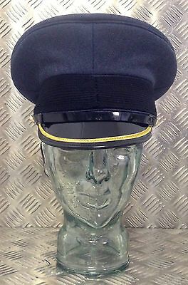 Genuine British Royal Air Force RAF No1 Ceremonial Dress Hat w Chinstrap Buttons