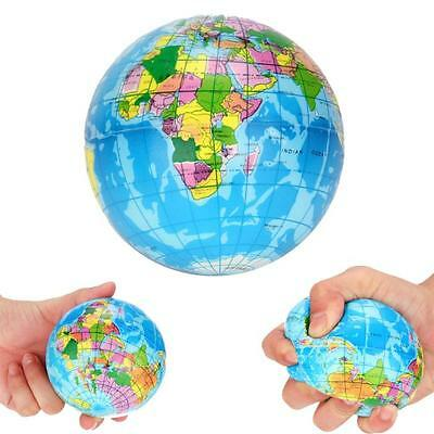 Stress Relief World Map Foam Ball Atlas Globe Palm Planet Earth Balls For Adults