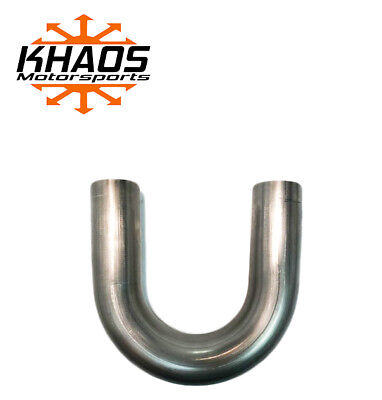 "1.625"" 1 5/8"" 180 DEGREE 304 STAINLESS 16ga MANDREL BEND EXHAUST TUBING"