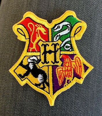Hogwarts Harry Potter Wizard School Crest Patch** Book Costume Dress Up Tv Movie