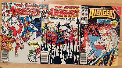 Marvel Comics: Avengers 3 issue lot # 248, 249, 260 VG/VF
