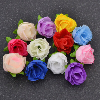 Pack of 50 DIY Wedding Party Home Decor Flowers Artificial Flower Fake Roses