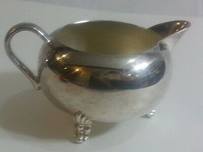 Vintage silver-plated cream pitcher