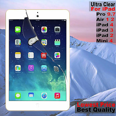 HD Ultra Clear Screen Protector Film Guard For iPad 4 3 Air 2 Mini 3 2 Pro 9.7""