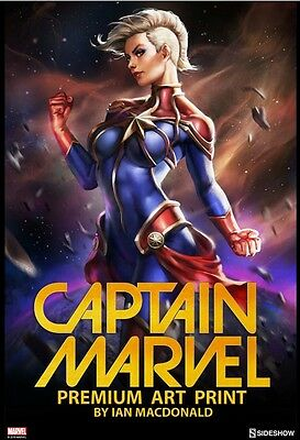 Sideshow Collectibles Exclusive CAPTAIN MARVEL Premium Art Print Limited Edition
