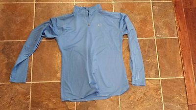 Women's Athletic Paradox Sweatshirt Track Jacket, Size XL, Blue Half Zip