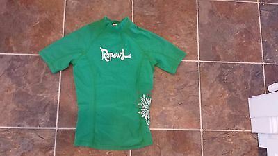 Rip Curl Swim Shirt Green (Youth Size 8)