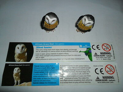 Yowies Brand New * 2017 Yowies Are Back , Afn Grass Owl* + 2 X Variation Papers