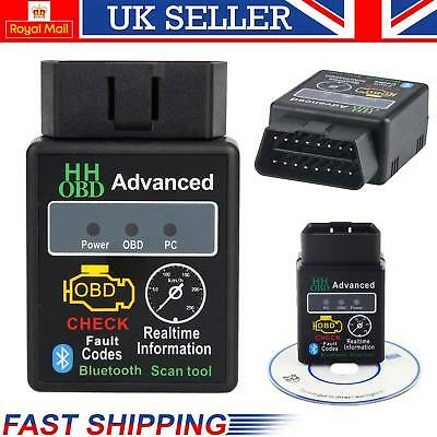 New Bluetooth OBD2 V2.1 ELM327 Android Torque Car Scanner Auto DTCs Scan Tool UK