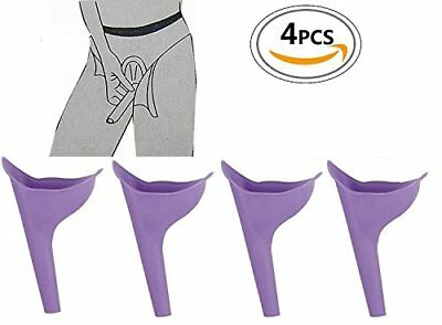 Reusable Silicone Portable Urinal, Women Female, pack of 4, Travel Camping