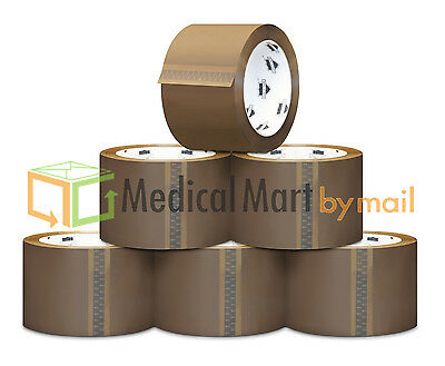 "Brown/Tan Packaging Tape - 2"" x 110 Yards (330' Feet) Choose Your Mil & Rolls"