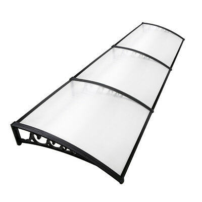 DIY Window Awning Modern Cover Front Door Outdoor Patio Canopy Transparent 1mX3m