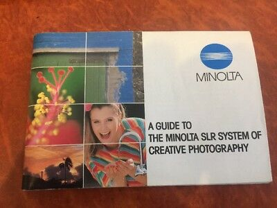 Vintage Minolta Guide To The Minolta SLR System Of Creative Photography Booklet