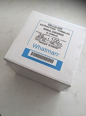 Whatman GE Healthcare High Performance Extraction Thimbles