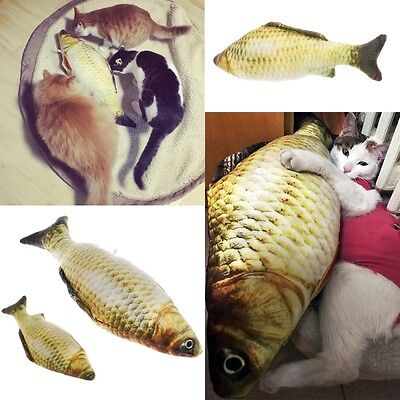 Grass Carp Cat Pet Kitten Fish Shape Interactive Chewing Playing Toys 20/40cm
