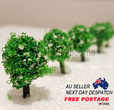 WT2505 Architectural  3D Modelling  Fruit White Flower Tree 25mm 5pcs