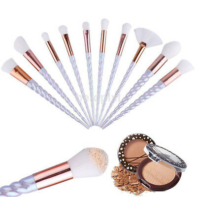 10X White Cosmetic Makeup Brushes Set Powder Foundation Eyeshadow Blush Brush FR