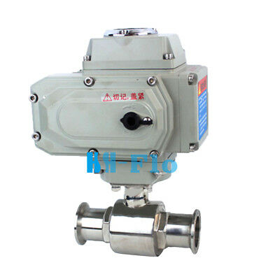 """1-1/4"""" Stainless 304 Tri Clamp Motorized Electric Actuated Ball Valve DC24V"""