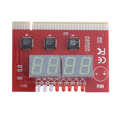 LED 4 Digit Analysis Diagnostic Tester POST Card PCI PC Analyzer Motherboard Red