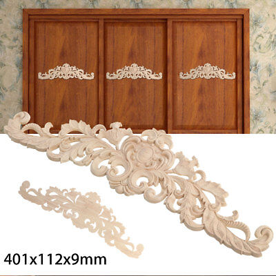 Wood Wooden Carved Applique Frame Decor Onlay Furniture Craft Door Unpainted