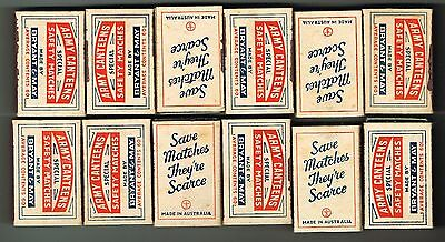 Bryant & May's -Crown War Pack Carton Wrapper &12 Off Mint Match Boxes - 1940's