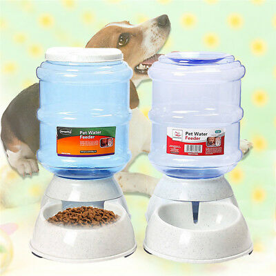 3.5L Large Automatic Pet Food Water Drinking Dispenser Dog Cat Feeder Bowl Dish