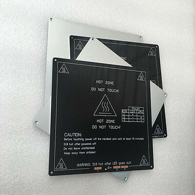 3D printer hot bed headbed aluminum substrate mk3 214x214x3mm heated to 110