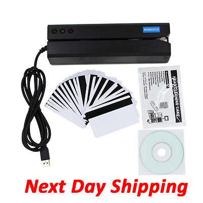 Next Day shipping MSR605X Magnetic Writer Card Reader Encoder Swipe Magstripe