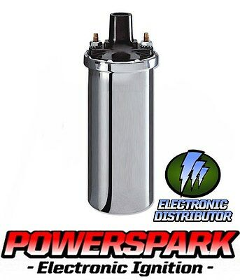 12V High Energy Chrome Ignition Coil from Powerspark Range Rover Discovery etc
