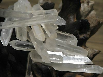 10 x Pieces of Large Raw Clear Quartz Crystal Points & Pieces