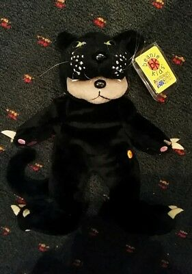 Jet the Black Panther Bear Beanie Kid MINT CONDITION