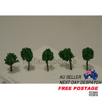 RT2805 Architectural 28MM Scale Short Tree Modelling Miniature Trees Pack of 5