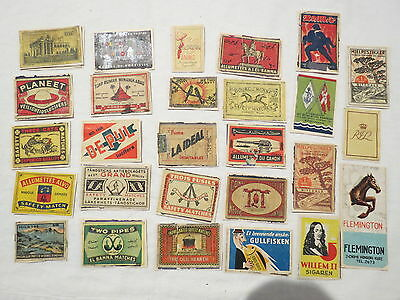 27 X Unkown Horse Bird Flag War World Old Vintage Matchbox Label Cover Match Box