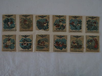 12 X Bulk Humour War Navy Usa America Old Vintage Matchbox Label Cover Match Box